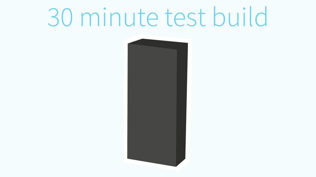 30 minute test build