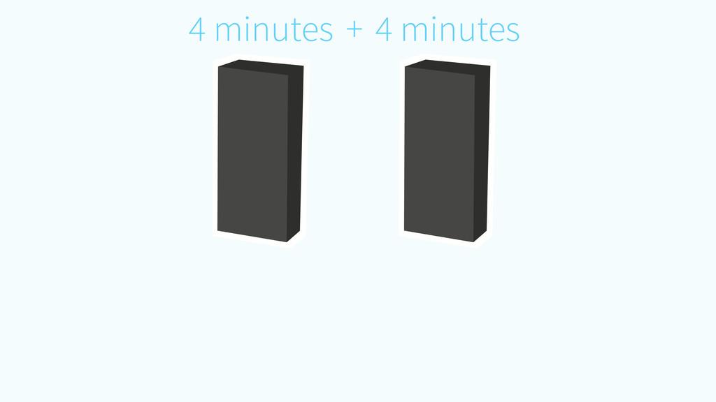 4 minutes 4 minutes +