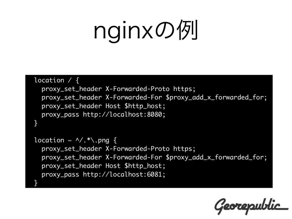 OHJOYͷྫ location / { proxy_set_header X-Forward...