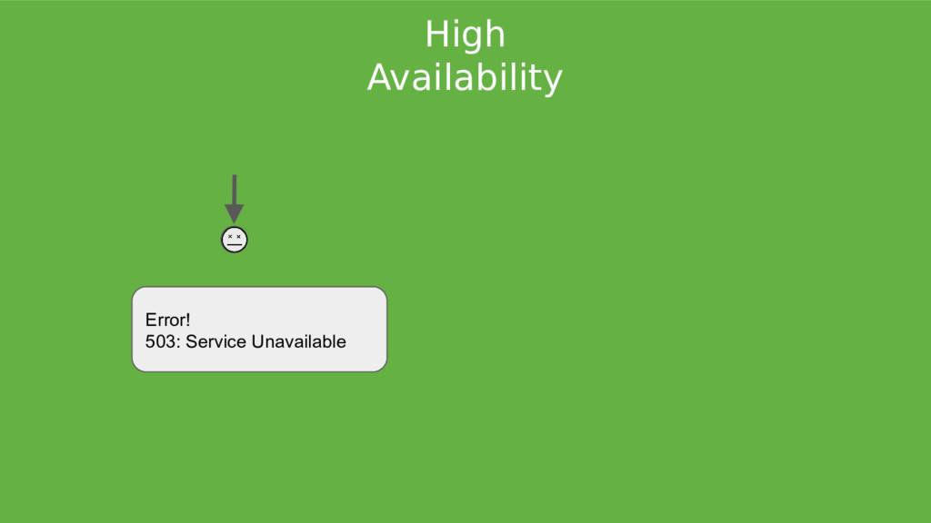 High Availability Error! 503: Service Unavailab...