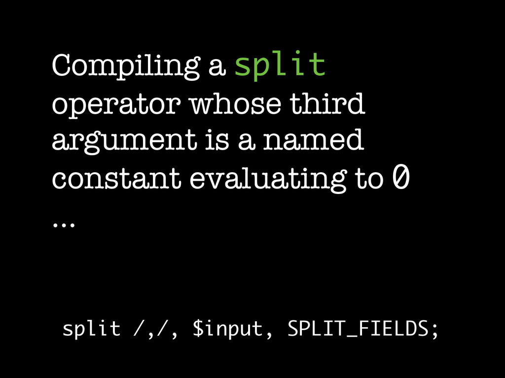 Compiling a split operator whose third argument...