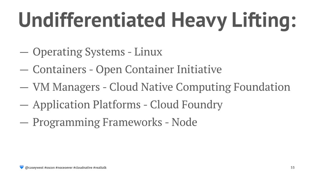 Undifferentiated Heavy Lifting: — Operating Sys...
