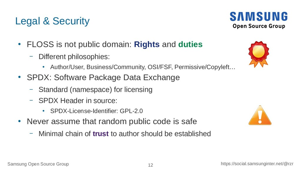 Samsung Open Source Group 12 https://social.sam...
