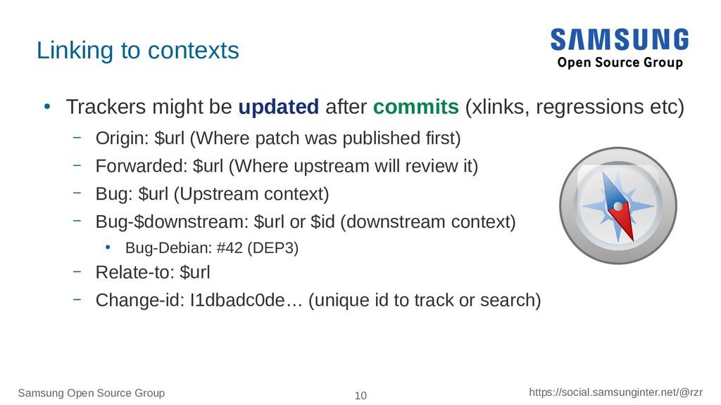 Samsung Open Source Group 10 https://social.sam...