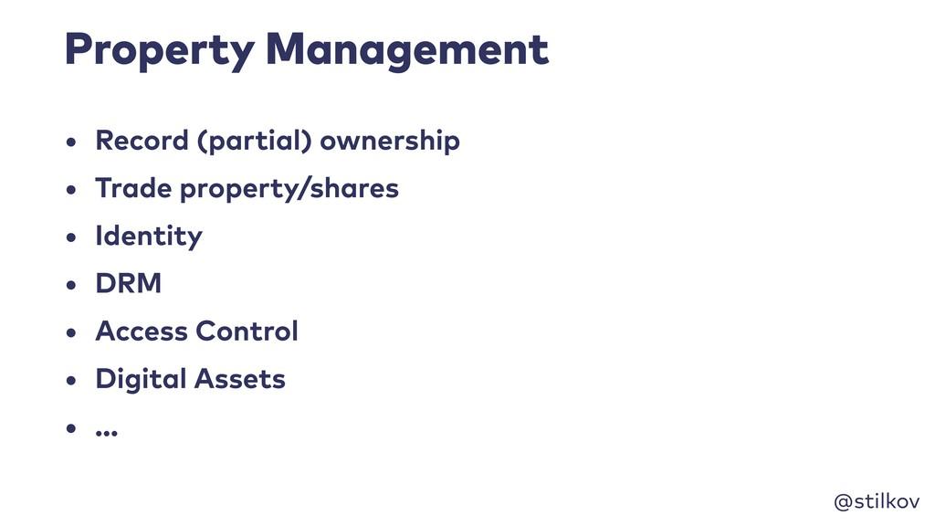 @stilkov Property Management • Record (partial)...