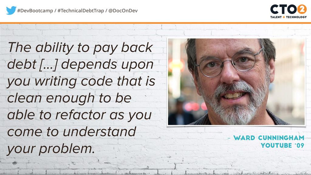 #DevBootcamp / #TechnicalDebtTrap / @DocOnDev –...