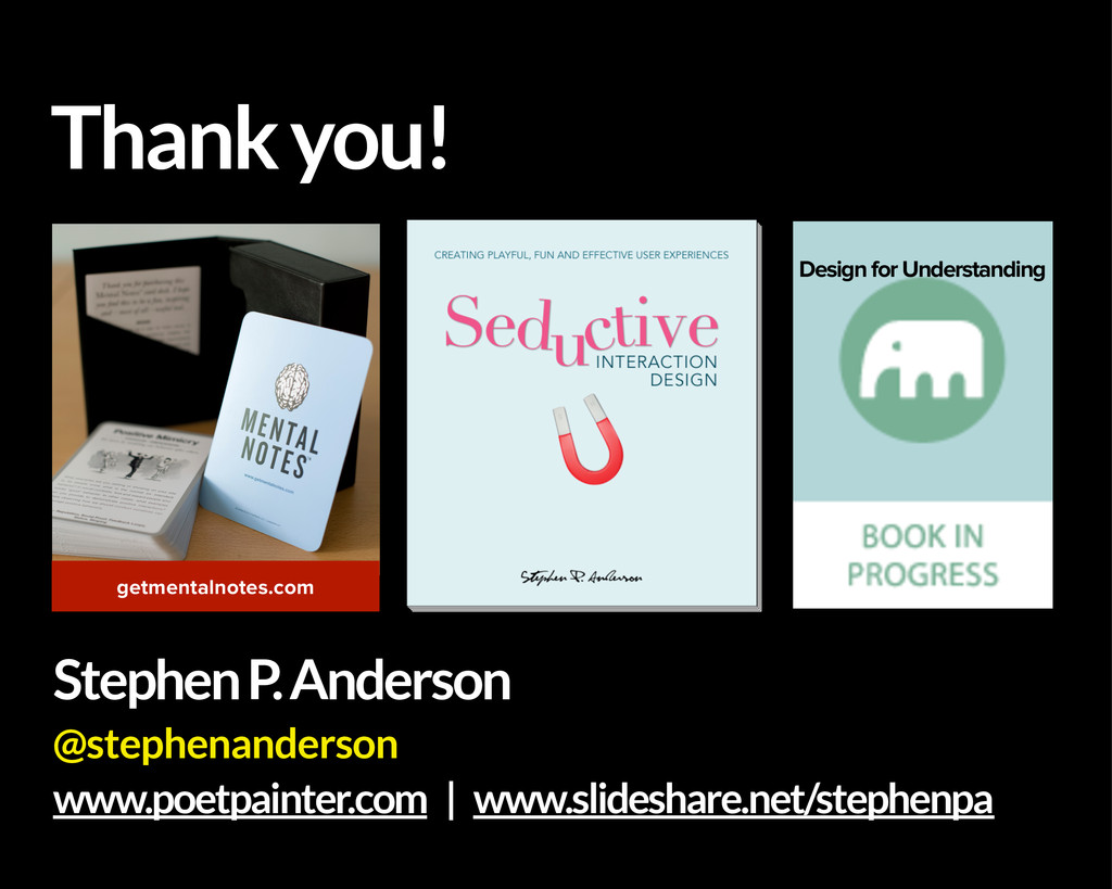 Thank you! getmentalnotes.com Design for Unders...