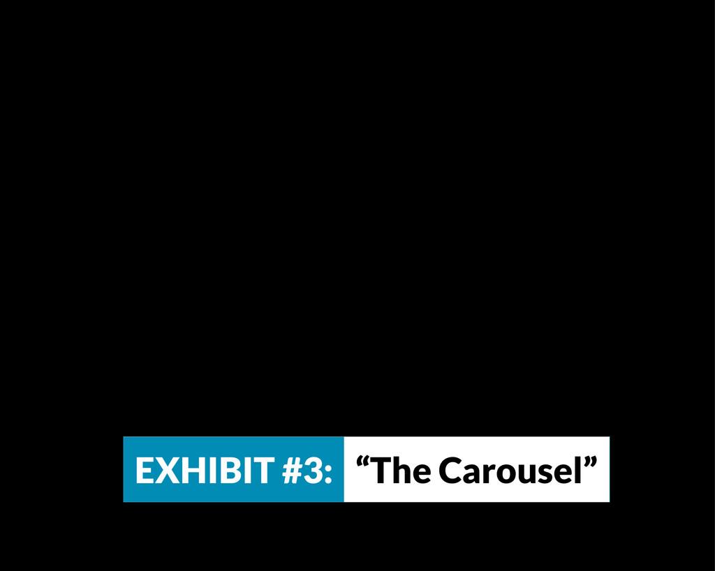 """EXHIBIT #3: """"The Carousel"""""""