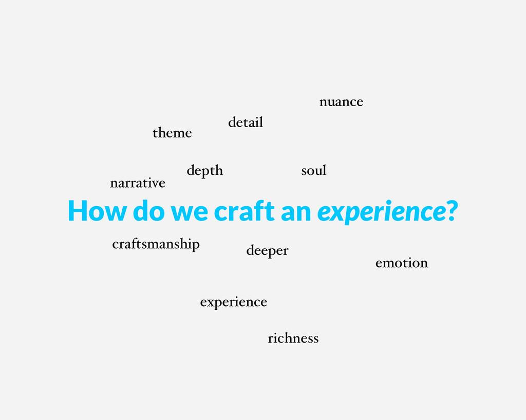 deeper depth experience soul theme narrative nu...