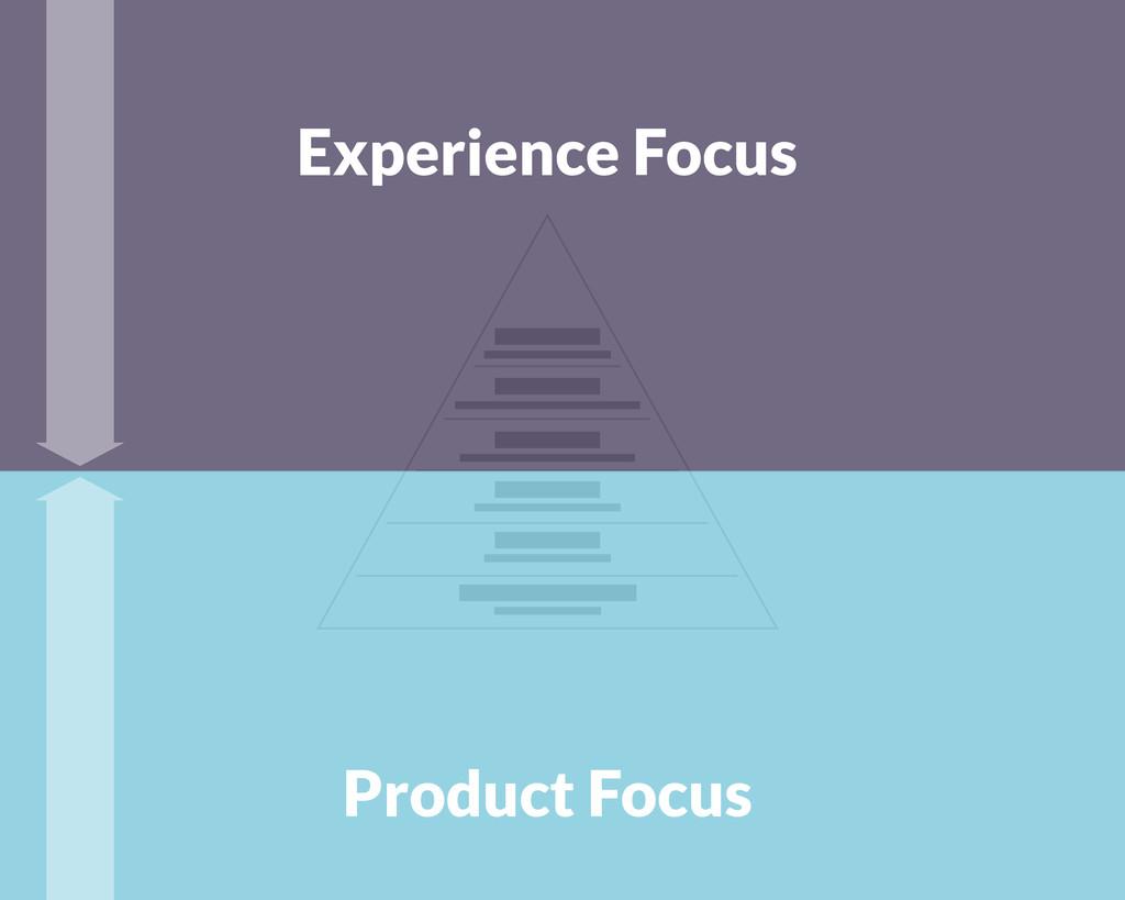 Experience Focus Product Focus