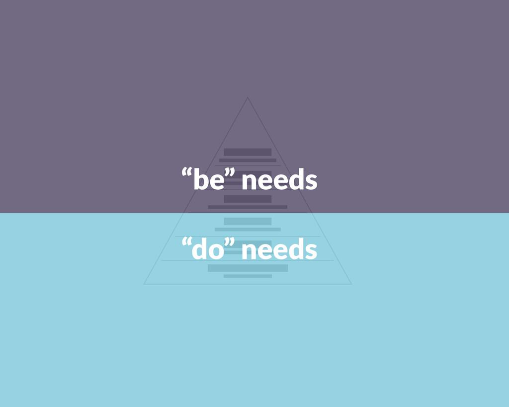 """""""do"""" needs """"be"""" needs"""