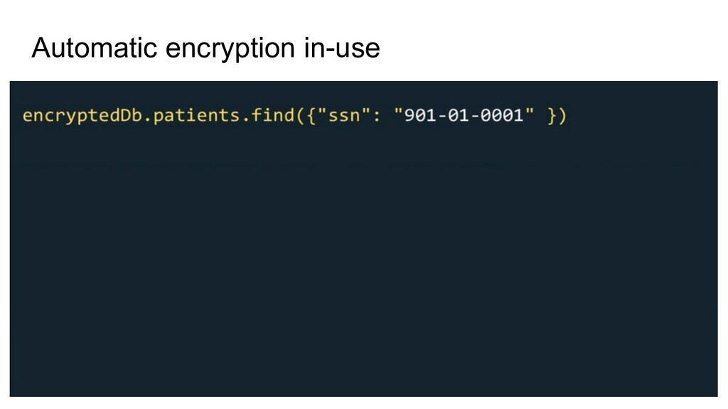 Automatic encryption in-use
