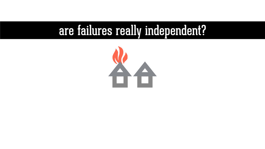 are failures really independent?