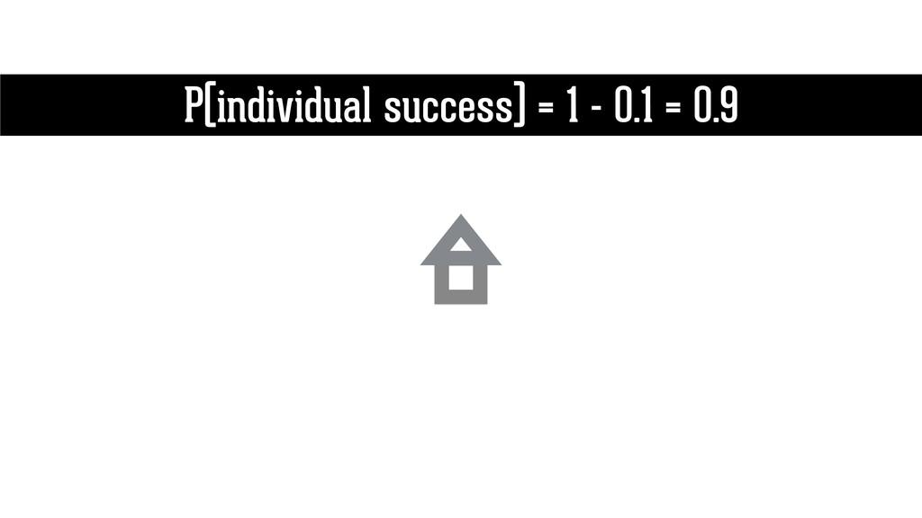 P(individual success) = 1 - 0.1 = 0.9