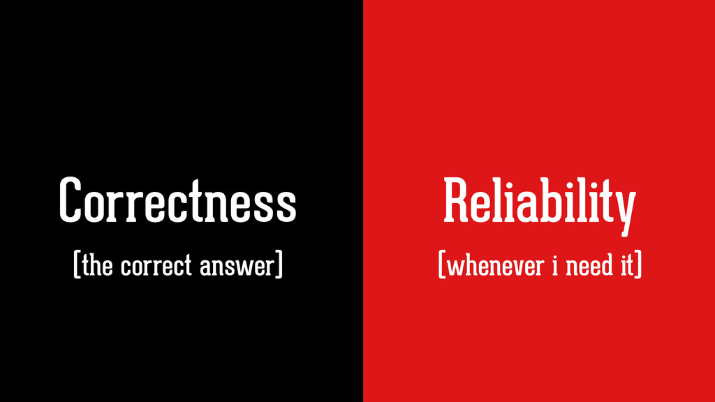 Correctness Reliability (whenever i need it) (t...
