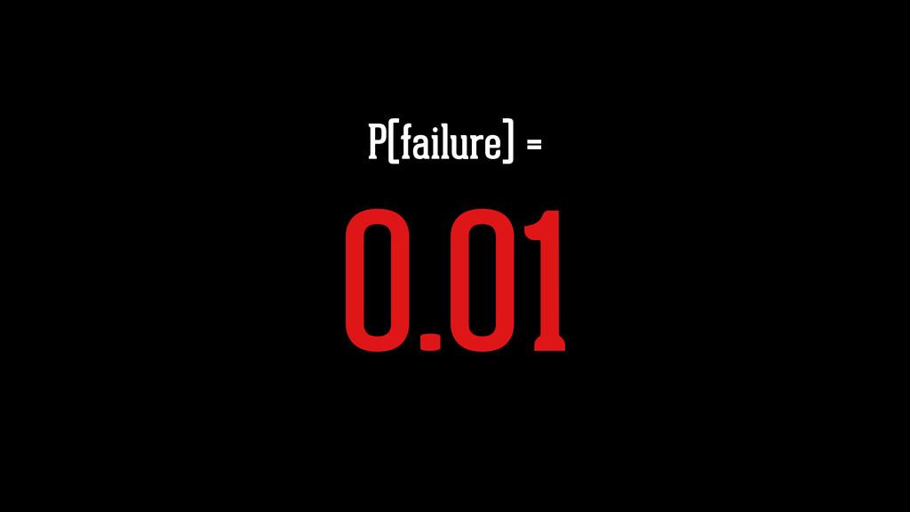 P(failure) = 0.01