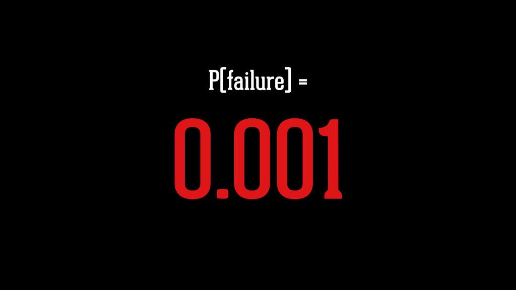 P(failure) = 0.001