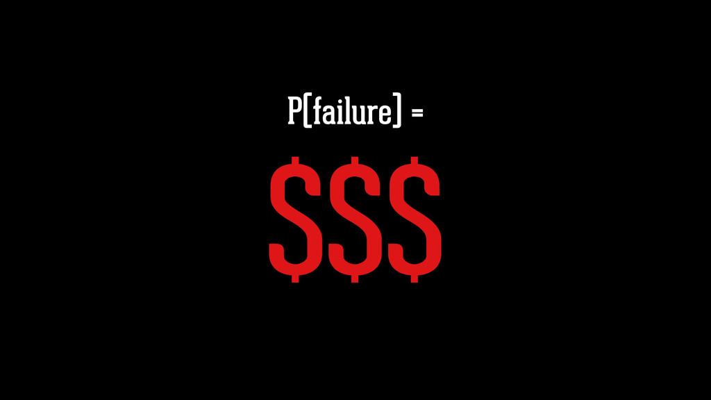 P(failure) = $$$