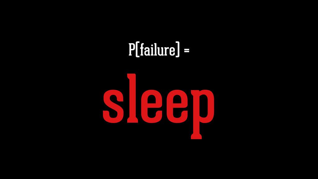 P(failure) = sleep