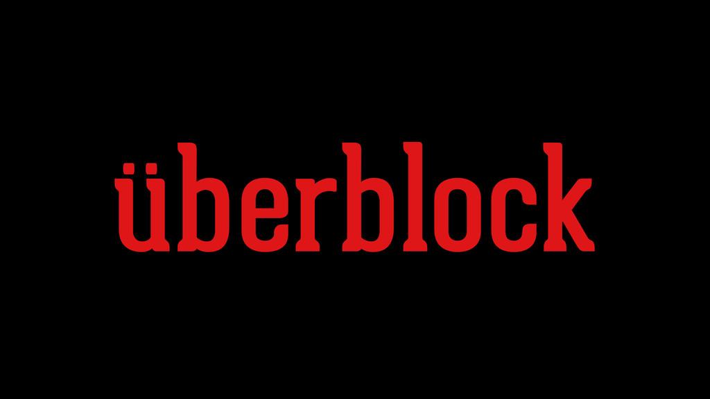 überblock