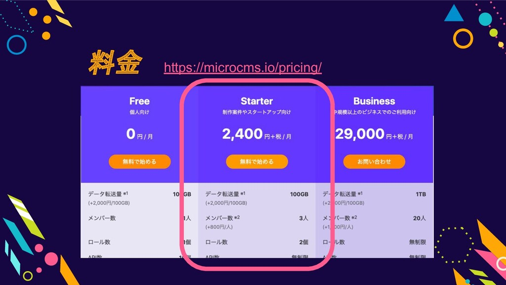 料金 https://microcms.io/pricing/