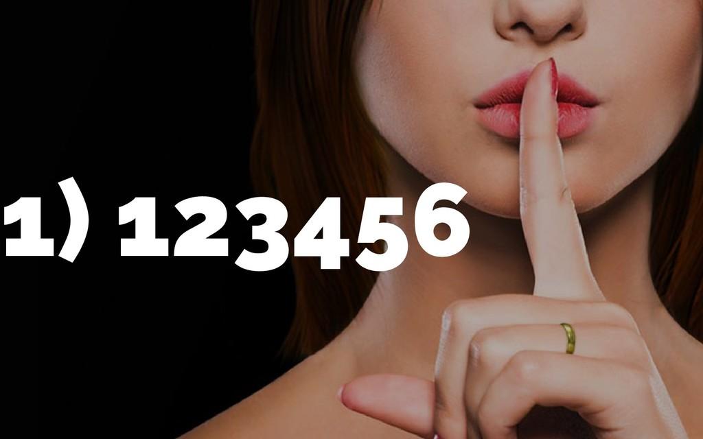 1) 123456