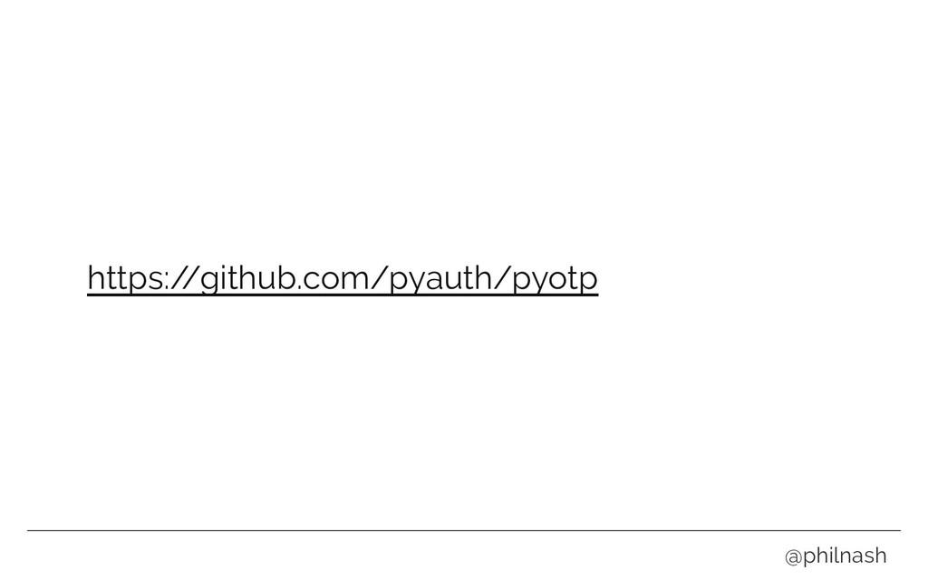 https:/ /github.com/pyauth/pyotp @philnash