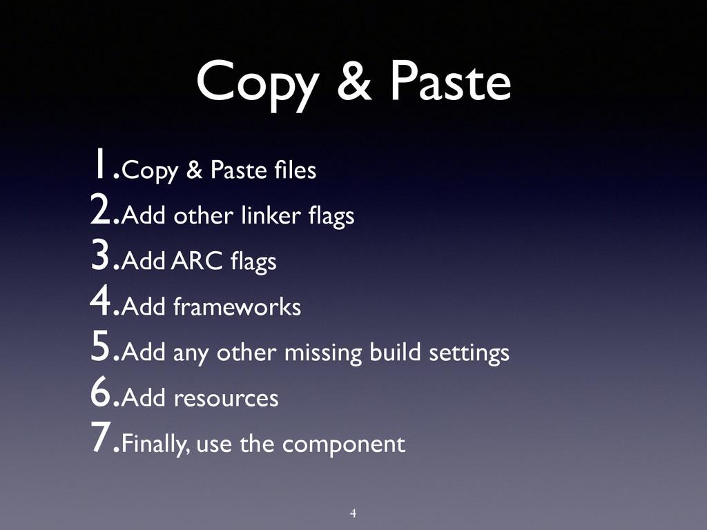 Copy & Paste 1.Copy & Paste files  2.Add other...
