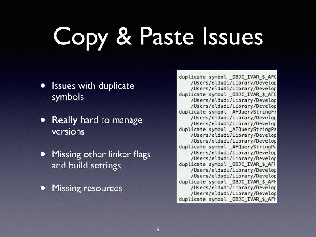 Copy & Paste Issues 5 • Issues with duplicate s...