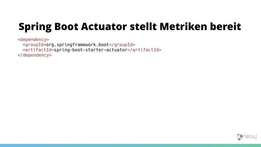 Spring Boot Actuator stellt Metriken bereit <de...