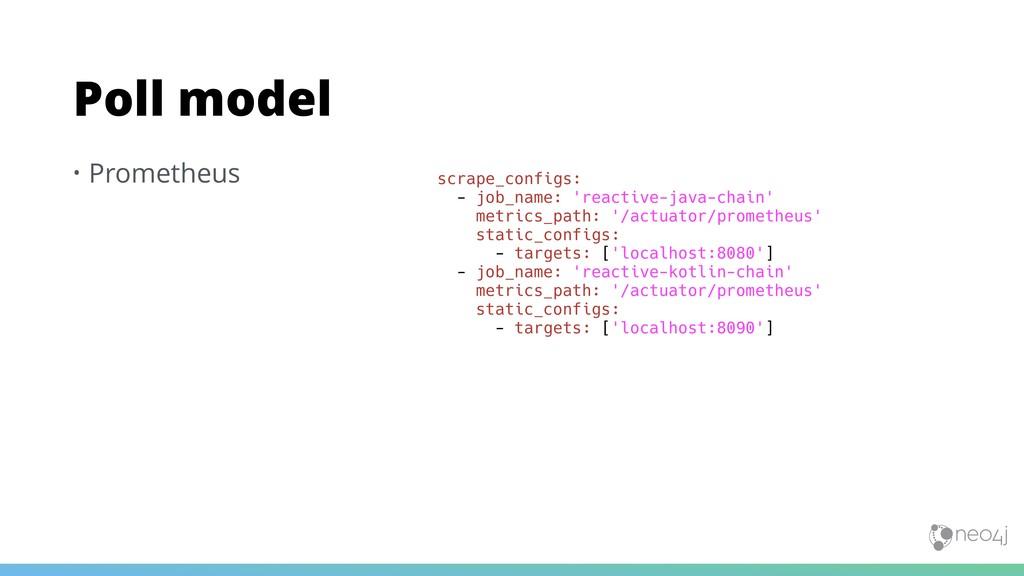 • Prometheus Poll model scrape_configs: - job_n...