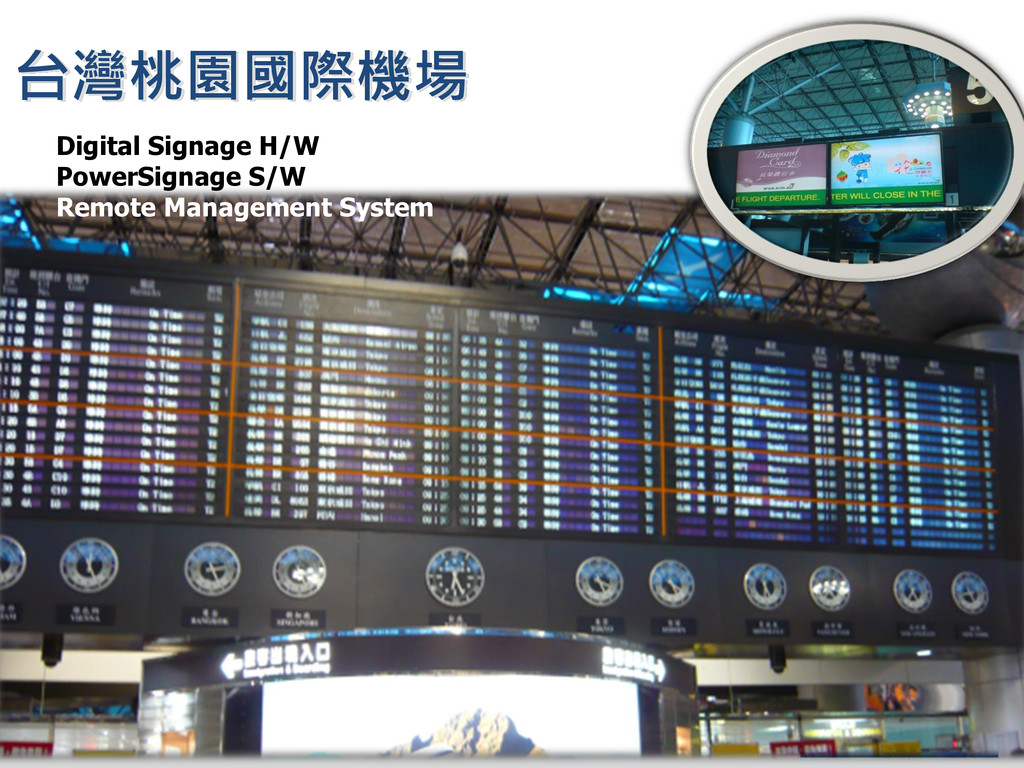 台灣桃園國際機場 Digital Signage H/W PowerSignage S/W R...