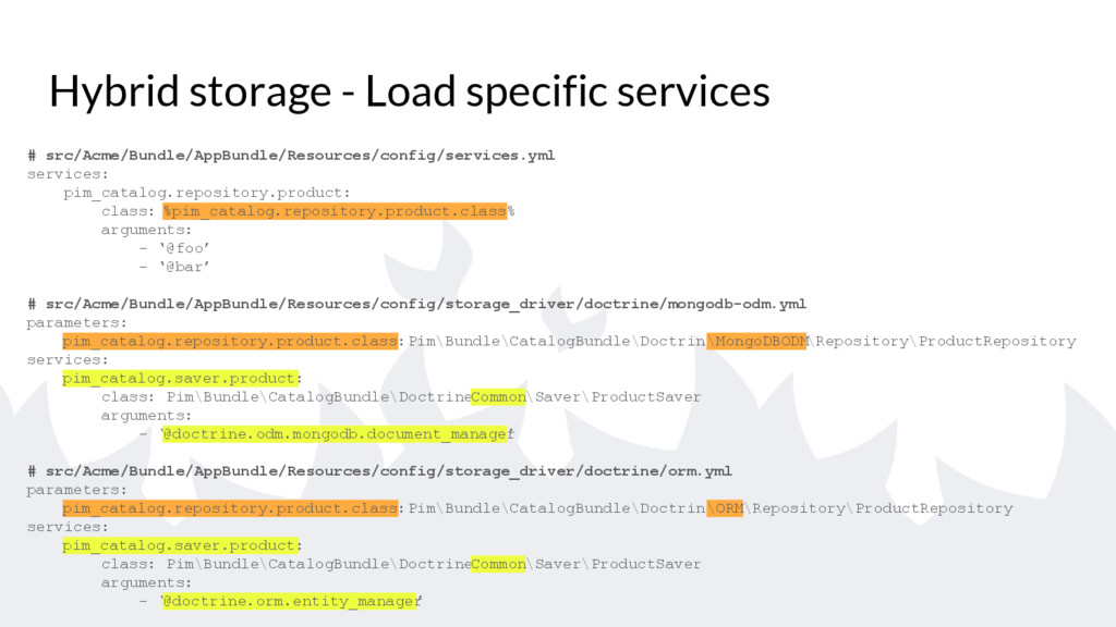 Hybrid storage - Load specific services # src/A...