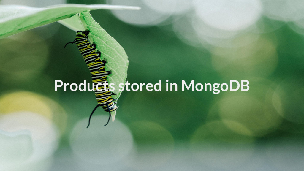 Products stored in MongoDB