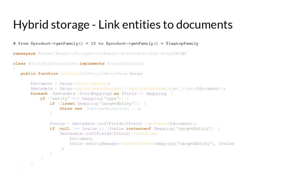 Hybrid storage - Link entities to documents # f...
