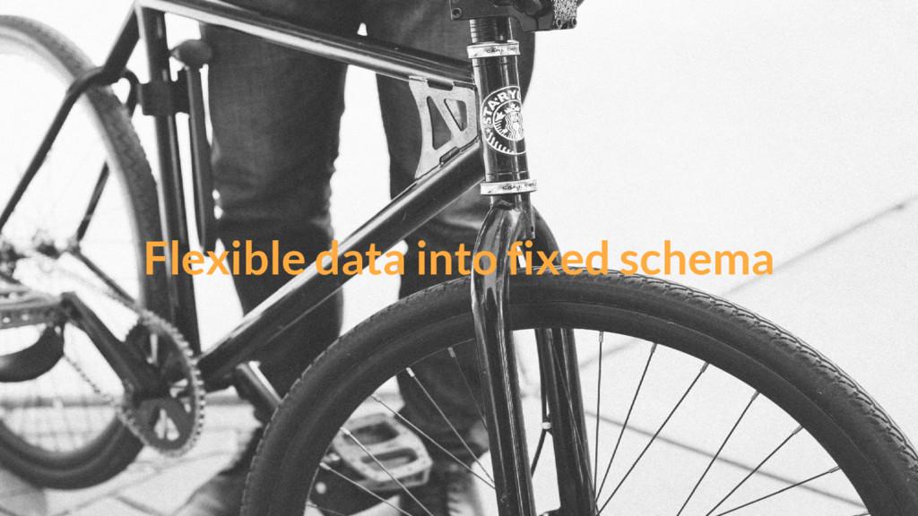 Flexible data into fixed schema