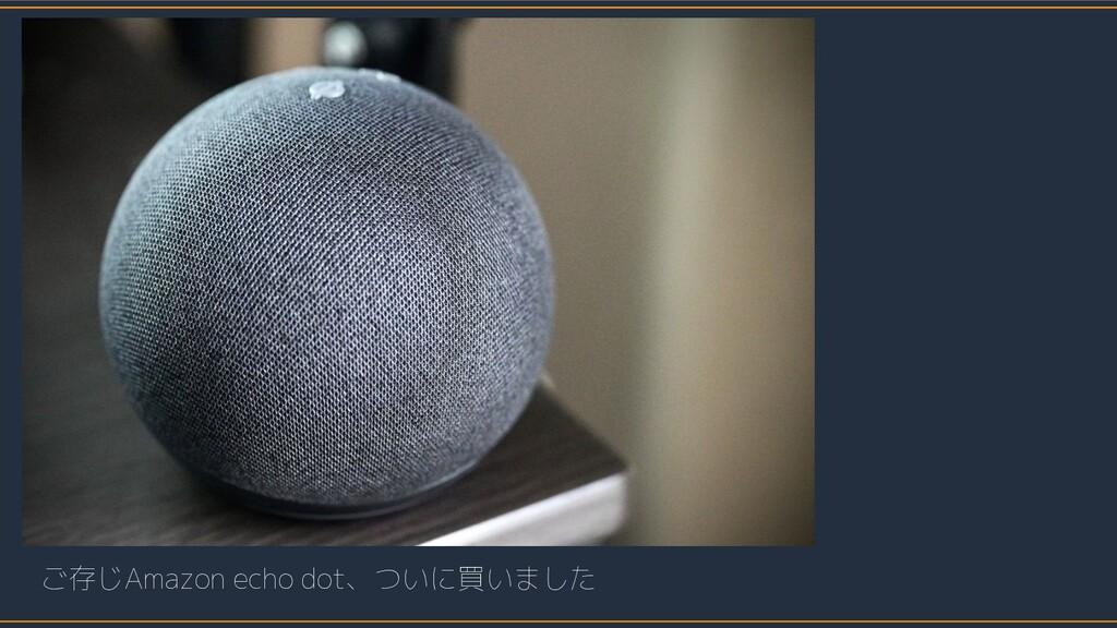 ご存じAmazon echo dot、ついに買いました