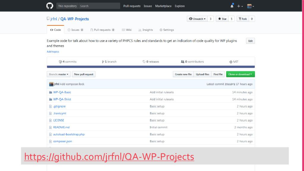 https://github.com/jrfnl/QA-WP-Projects