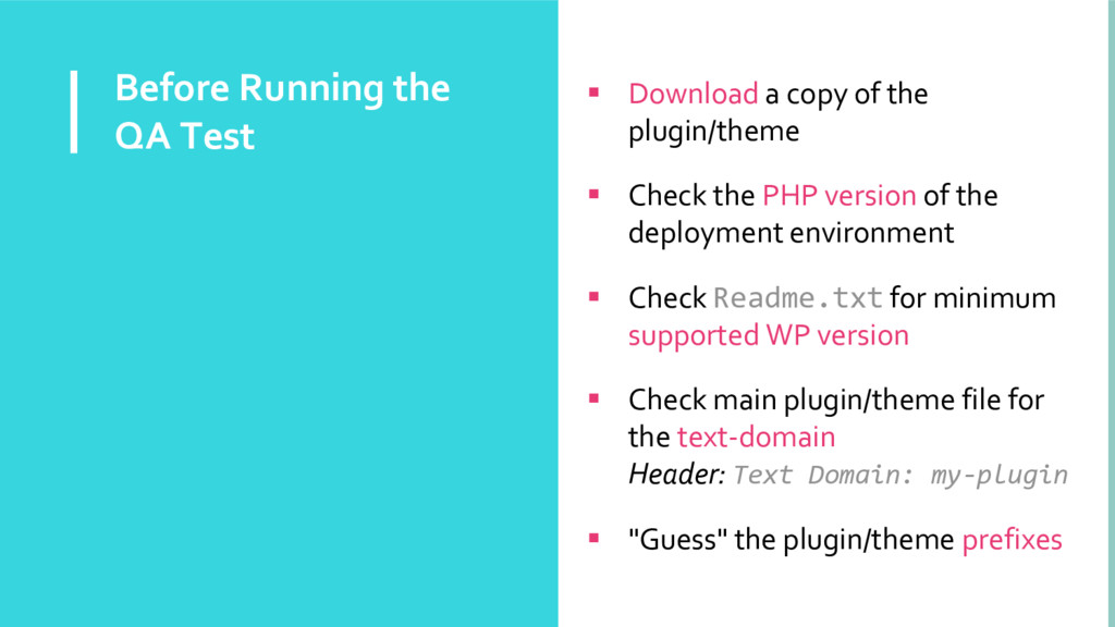 Before Running the QA Test  Download a copy of...