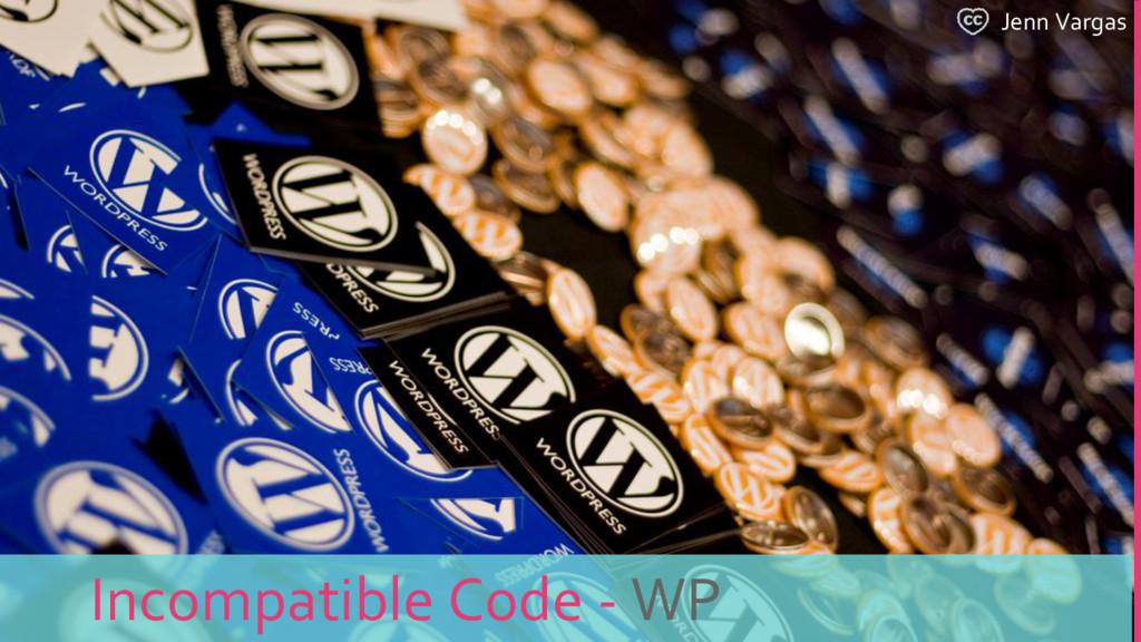 Jenn Vargas Incompatible Code - WP