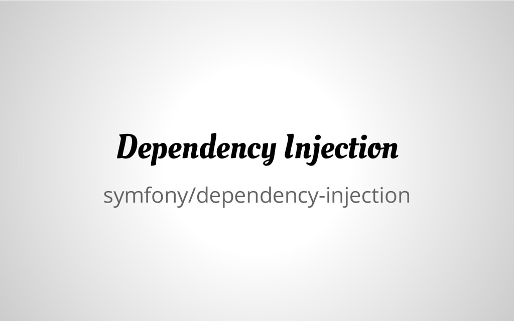 symfony/dependency-injection Dependency Injecti...