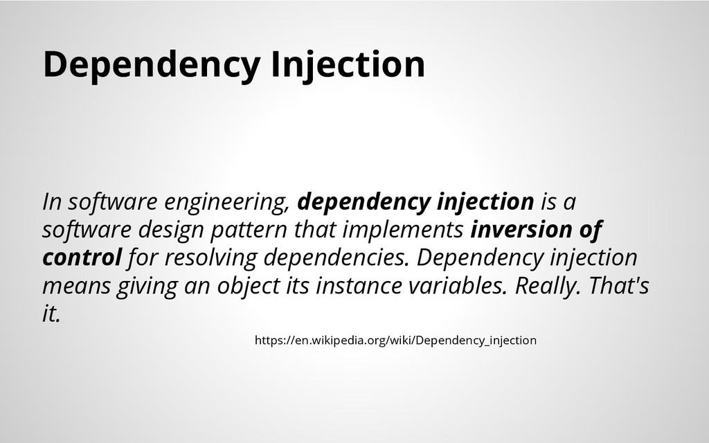 Dependency Injection In software engineering, d...