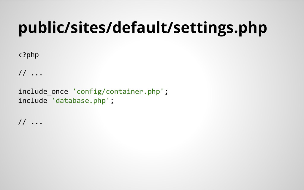 public/sites/default/settings.php <?php // ... ...