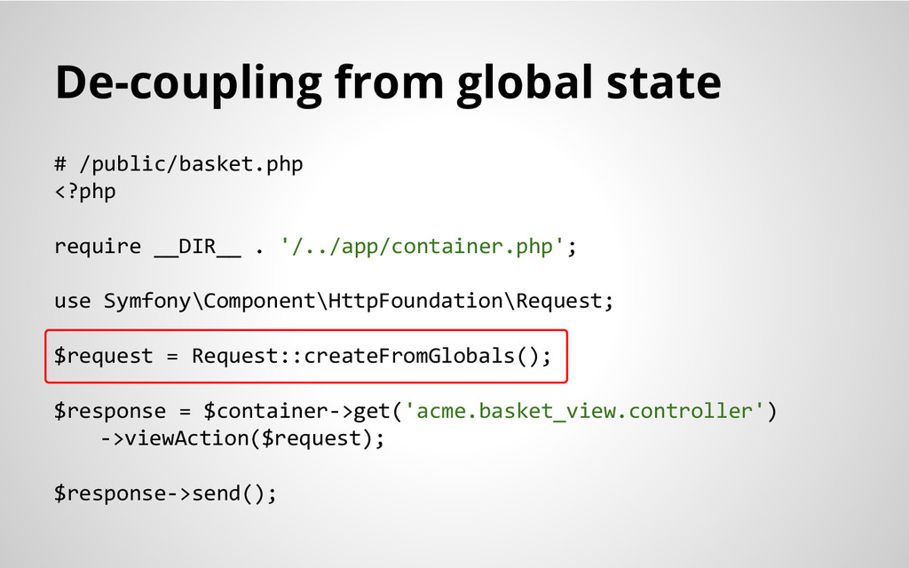De-coupling from global state # /public/basket....