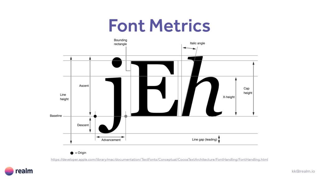 kk@realm.io Font Metrics https://developer.appl...