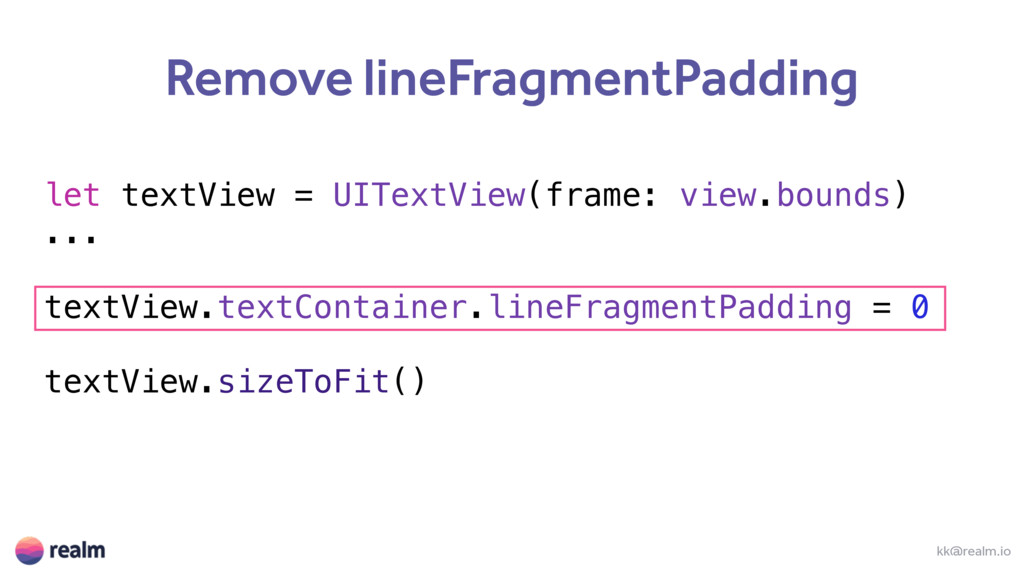 let textView = UITextView(frame: view.bounds) ....
