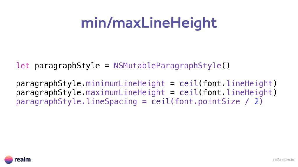 let paragraphStyle = NSMutableParagraphStyle() ...