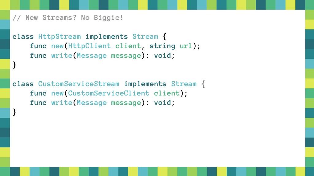 55 // New Streams? No Biggie! class HttpStream ...