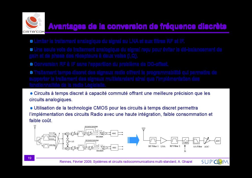 Avantages de la conversion de fréquence discrèt...