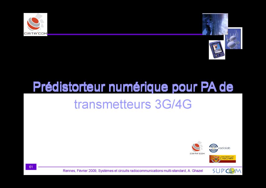 Prédistorteur numérique pour PA de Rennes, Févr...